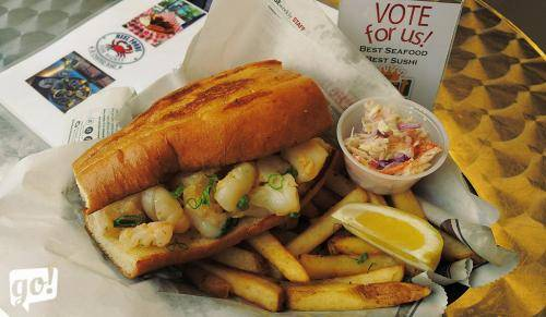 Reel Foods Fish Market Lobster Sandwich